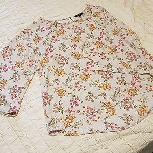 Stitchfix- Light pink floral blouse